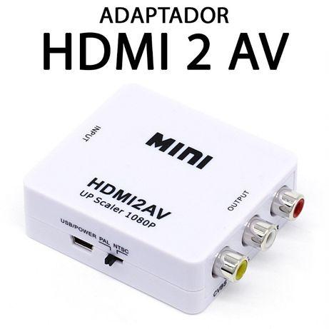 PC - Adapdador HDMI para RCA/AV - NOVO