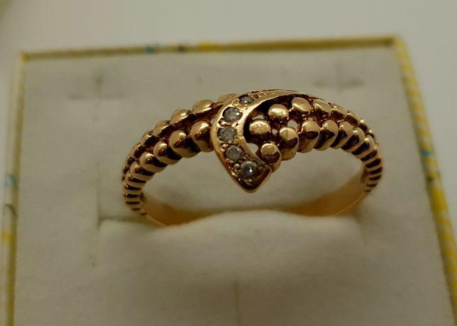 Złoty ażurowy pierścionek 3,50g p585 r.25 /STERNA złoto