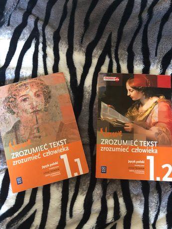 Podręczniki do polskiego Zrozumieć teksy zrozumieć człowieka 1.1 i 1.2