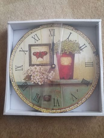 Nowy retro komplet zegar i obraz Dakls