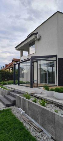 Ogrody zimowe zabudowy tarasow zadaszenia balustrady sciany szklane