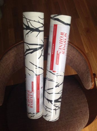 Dwie rolki tapety Schöner wohnen nowe zapakowane biało czarne