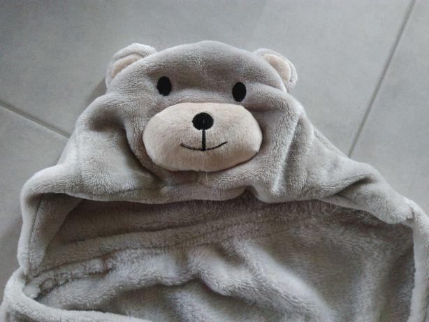 Ręcznik szlafrok otulacz po kąpieli z kapturem