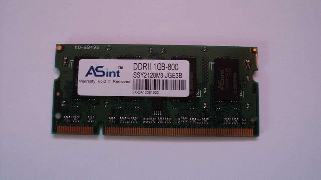 Pamięć RAM DDR2 Asus Eee PC i innych 1GB 800Mhz ASINT SSY2128M8-JGE3