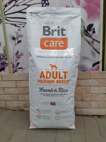 Скидка! Сухой корм Brit Care Adult Medium Breed (Брит, Кеа,Карэ) 12кг!