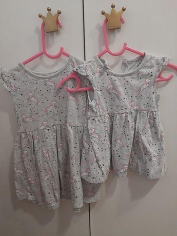 Identycznie  sukienki siostry big/little takie same 68 92