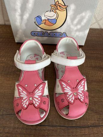 Кожаные сандали фирмы Сказка р. 24, 15 см