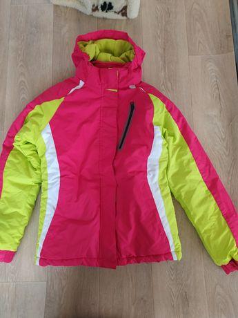 лыжная термо куртка  с флисовой кофтой подстежкой на рост 158-164 С-М