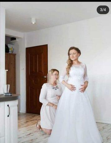 Suknia ślubna z salonu, buty gratis Krotyl