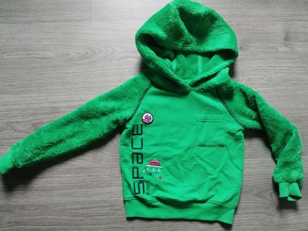 Bluza futrzak zielona 86/92