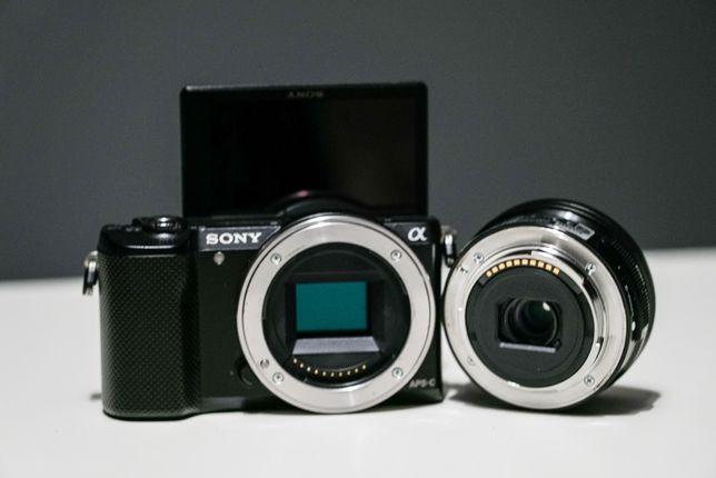 Sony A5000 Alpha Obiektyw Sony 16-50 F3.5 ( A6500 -- 4 tys )