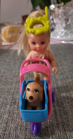 Lalka Barbie z Violetty plus dwie małe laleczki ze zwierzątkami