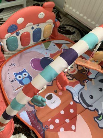 Музыкальная игрушка пианино + коврик ростомер