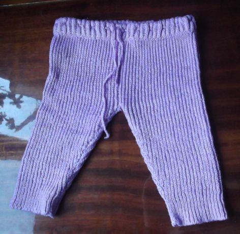 Штаны вязанные, на 1-2 года