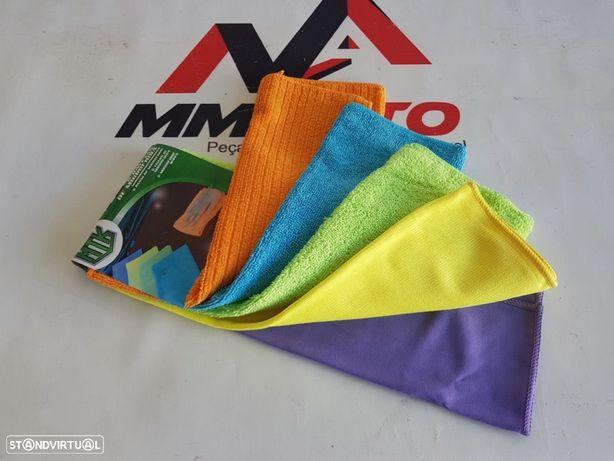 Conjunto 5 Panos de Limpeza Micro Fibra