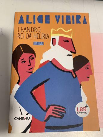"""Leandro, rei da Helíria"" de Alice vieira"