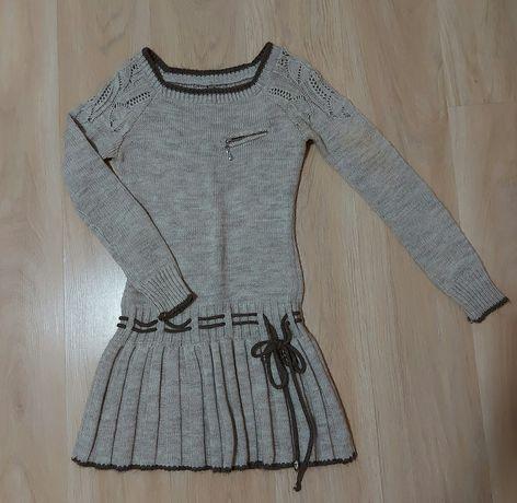 Вязаное платье. Размер универсал 42-46