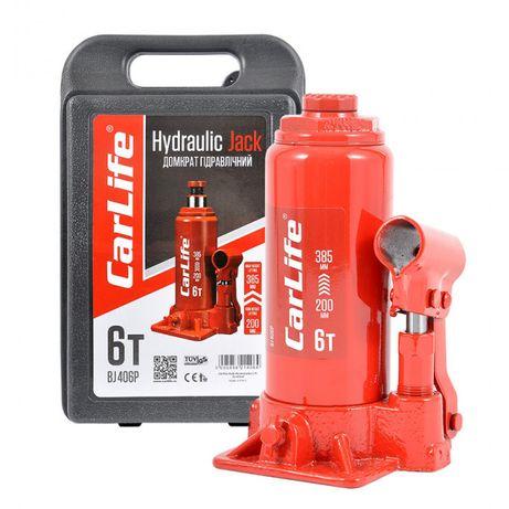 Домкрат гидравлический CarLife BJ406P 6т 200-385 мм в кейсе