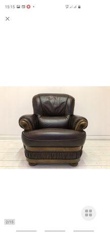 Fotel salonowy skóra naturalna