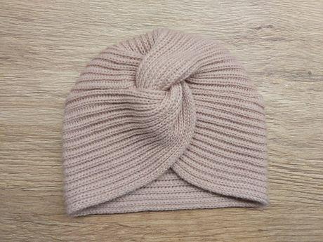 Turban czapka dziewczecy 74/80 brudny roz