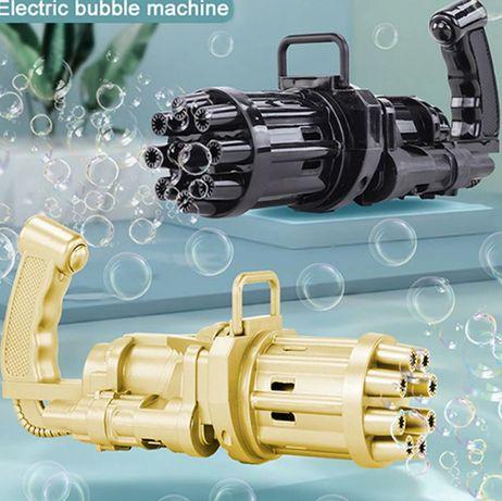 Пистолет-автомат для мыльных пузырей, Gatling bubble gun Опт/дроп