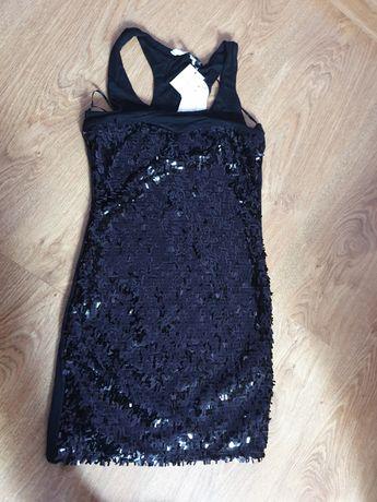 Czarna,krótka sukienka