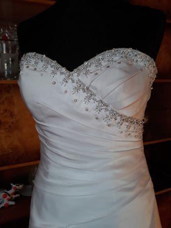 Suknia ślubna biała dekolt serce
