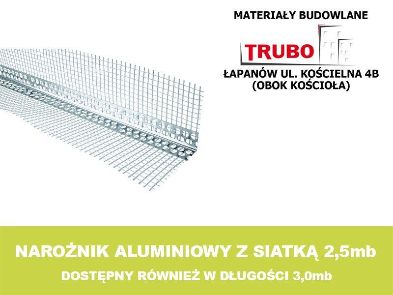 Narożnik ALU aluminiowy elewacyjny z siatką 2,5mb Łapanów - image 1
