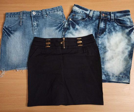 Юбка короткая джинсовая 12 размер