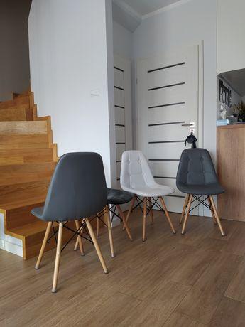 Krzesła komplet 4szt eko skóra