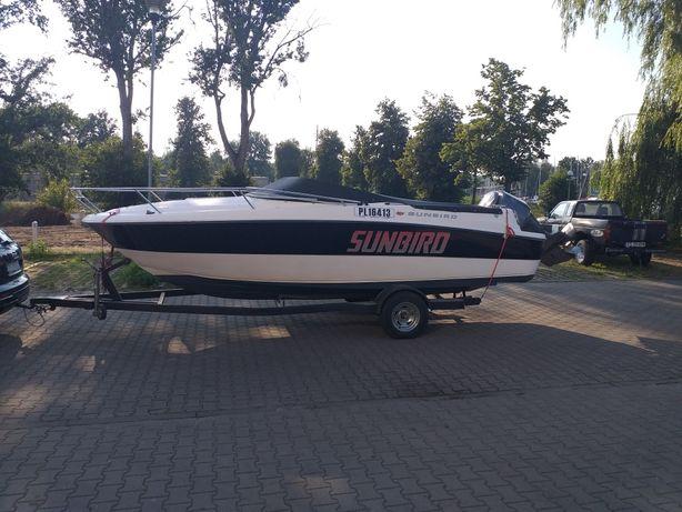 Lodz motorowa kabinowa sunbird silnik zaburtowy yamaha 200