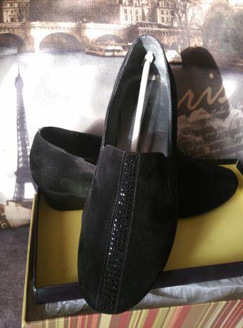 Туфли замшевые черные 39р.