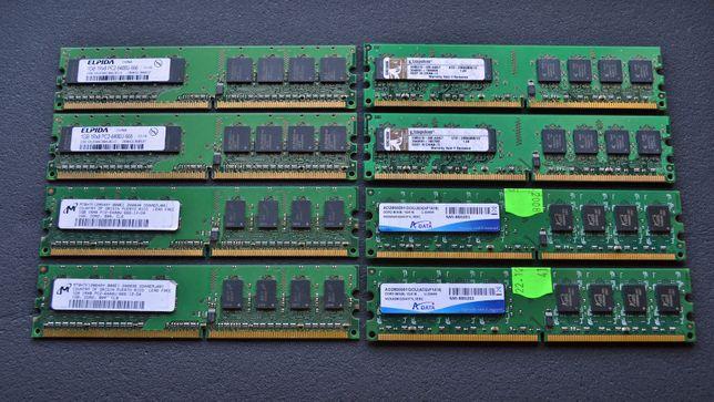 Pamięć RAM DDR2 2x1GB 800Mhz 667MHz Kingston / Adata / Goodram / inne
