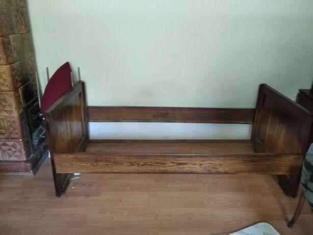 Łóżko drewniane prl