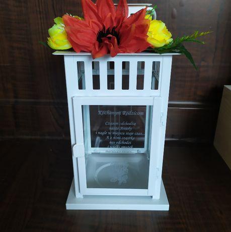 Duży Znicz Lampion dla TATY Dzień Ojca na grób ozdoba na nagrobek