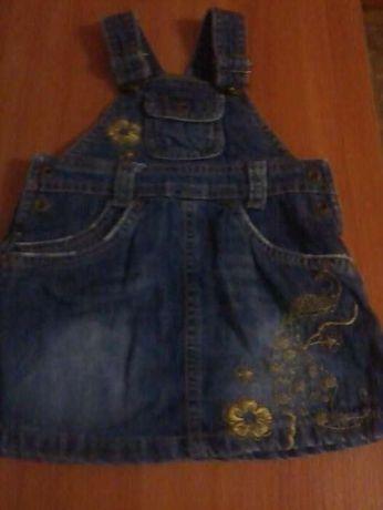Детский джинсовый сарафан плаття платье 6-12 мес.(74 рост ) H&M