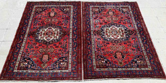 Antiguidade. Raros tapetes Persa Zanjan feitos à mão.