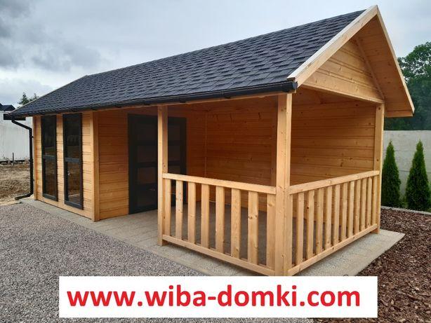 Domek drewniany letniskowy + taras