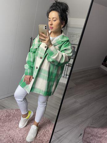 Koszula krata zieleń zielona