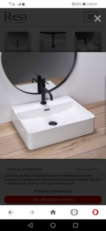 Umywalka Rea 50 cm