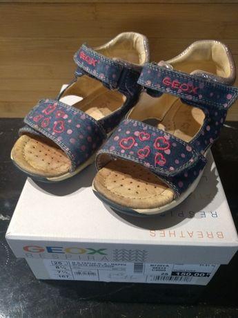 Geox sandałki 25 dziewczynka lato sztywna piętka
