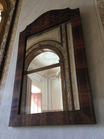 Espelho Madeira com embutidos Antigo 80 cm Anos 30