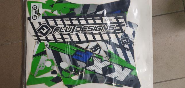 Kawasaki kxf 450 od09 do11 kompletna okleina z poszyciem siedzenia