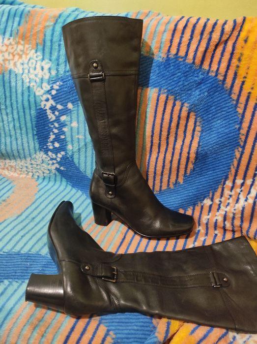 Сапоги кожаные женские 38 Одесса - изображение 1