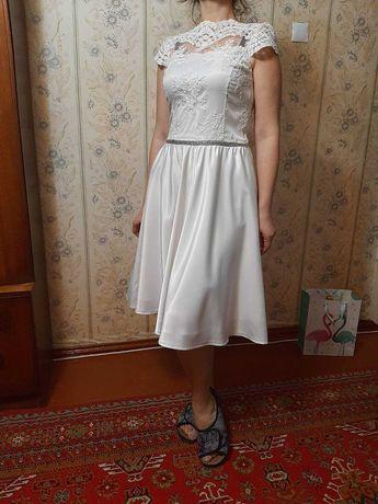 свадебное платье короткое новое