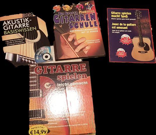 Książki do nauki gry na gitarze niemieckie 4 szt