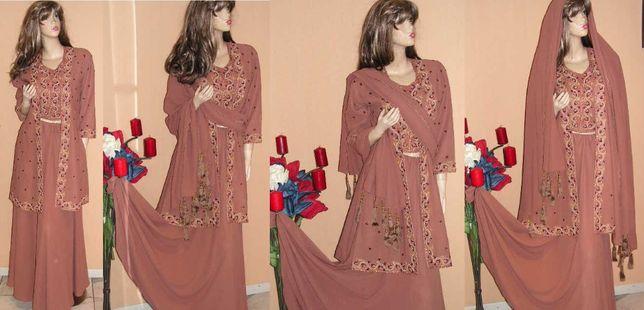 bogaty zestaw 4 części bollywood sari indie M/L