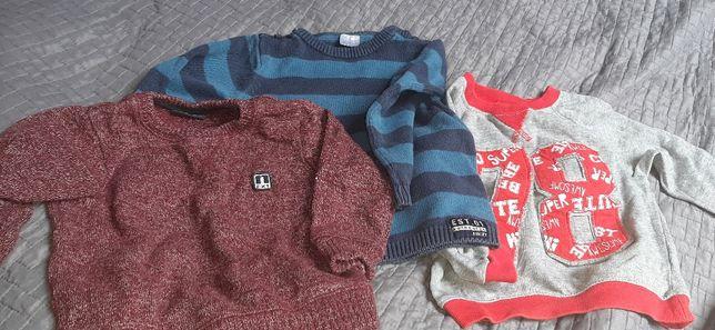 Bluza sweterki 86 zestaw