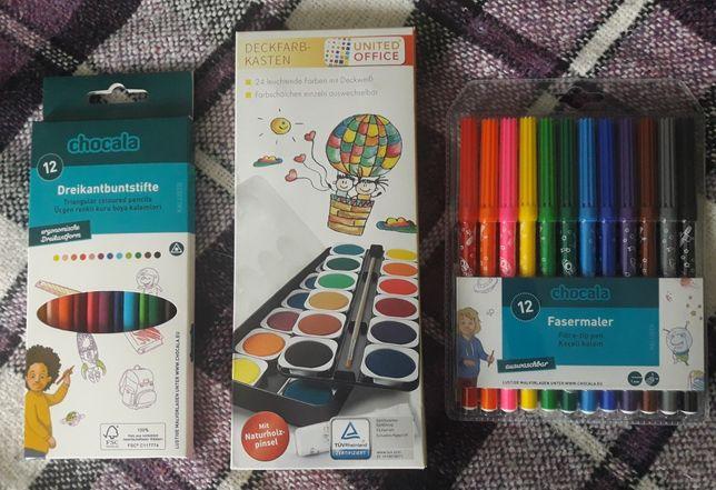 Набор краски, карандаши, фломастеры, Германия