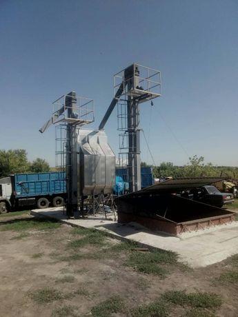 Зерносушилка 20 т/сутки ( газ / твердое / дизельное топливо)